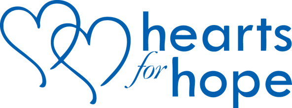 Hearts for hope logo-Blue